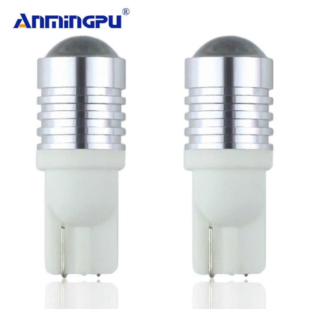 Anmingpu сигнальные огни 2x T10 W5W светодиодные лампы с кри чипсы 12 В 6000 К T10 LED Лампы для мотоциклов лампы для автомобили Габаритные огни Интерьер л...