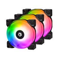 3pcs DF 12025 ARGB TRIO Motherboard Sync PWM PC Case Dual Ball Bearing Cooling Fan Cooler