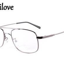 cf540d349a Eyesilove men s Memory Titanium eyewear Metal Flexible Bridge Temple Eyeglass  Frames