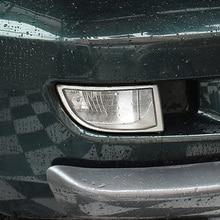 شحن مجاني جودة عالية ABS كروم الجبهة مصابيح ضباب غطاء الكسوة غطاء مصباح الضباب تقليم لتويوتا لاند كروزر برادو FJ 120