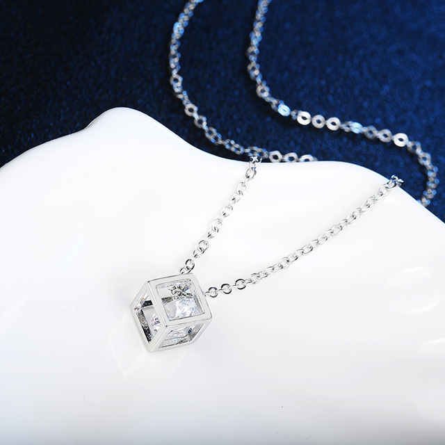 Crystal Rhinestone Pendant Necklace For Women  3