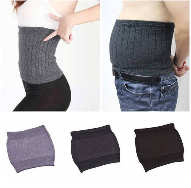 Women Men Comfortable Cashmere Fitness Bodybuilding Waist Belts Warmer Wool Waist Support Lumbar Brace Elastic Back Protector