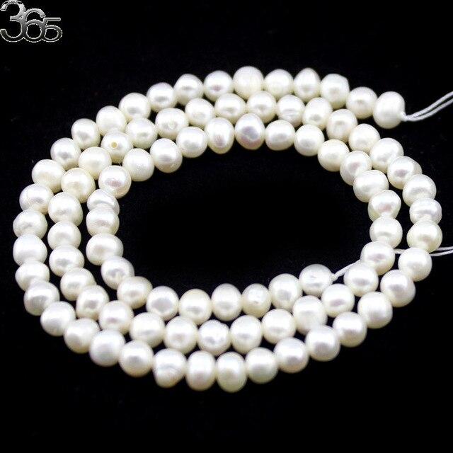 Livraison gratuite haute qualité 4mm 6mm 8mm 9mm 10mm 11mm 12mm naturel rond blanc perles deau douce brin 15