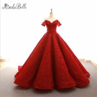 Modabelle Sweetheart Floor Length Lace Applique Lace up Luxurious Quinceanera Dresses Tulle Off Shoulder Ball Gown Dresses