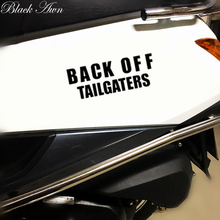 Back Off Tailgaters Funny Car Sticker Vinyl Decal Bumpers D022