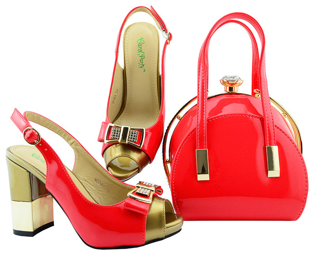Coral sandal and clutches bag african lady aso ebi shoes and bag matching  set size 38 e2e9b131d8a3