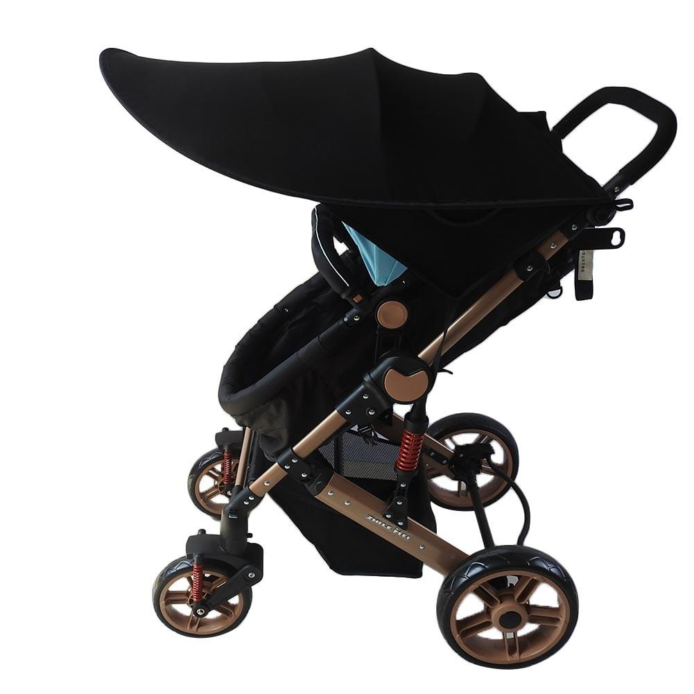 Baby Stroller Carriage Seat Anti-UV Sun Protection Folding Awning Windshield Sunshade Hood With Pocket