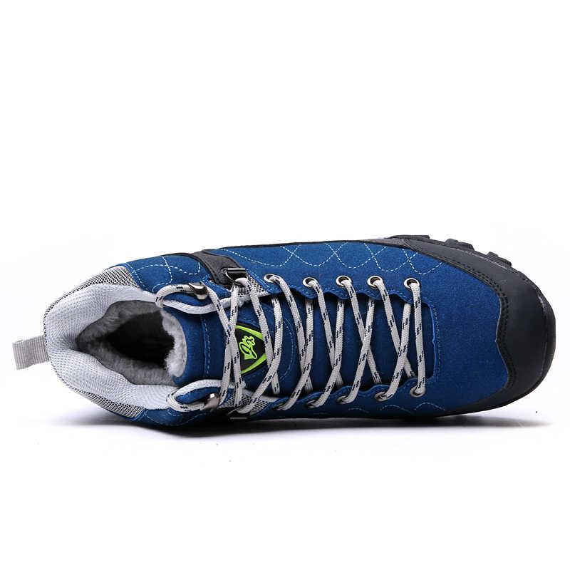 الشتاء الرجال الثلوج الأحذية 2019 الذكور حذاء الثلج عالي الرقبة دافئ الكاحل الرجال الشتاء أحذية أحذية عمل أحذية رجالي المطاط حذاء قصير 39-46
