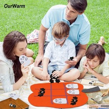 OurWarm Funny Tic Tac Toe Games Halloween Educational Game Felt Pumpkin Home Kids Gifts 45cm*43cm