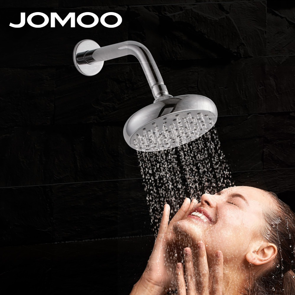 JOMOO bathroom shower head 6 inch water saving pressure shower watering can bath shower with arm wall mount