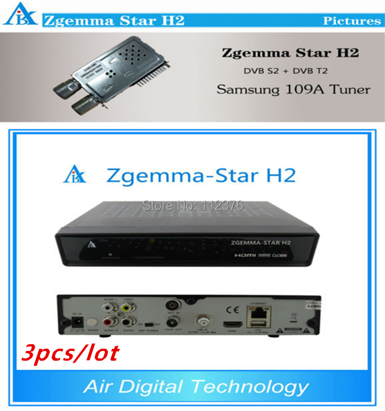 3pcs Enigma2 linux Combo decoder Zgemma Star H2 DVB-S2 DVB-T2/C Satellite Receiver no have boot problem евгений поляков no problem