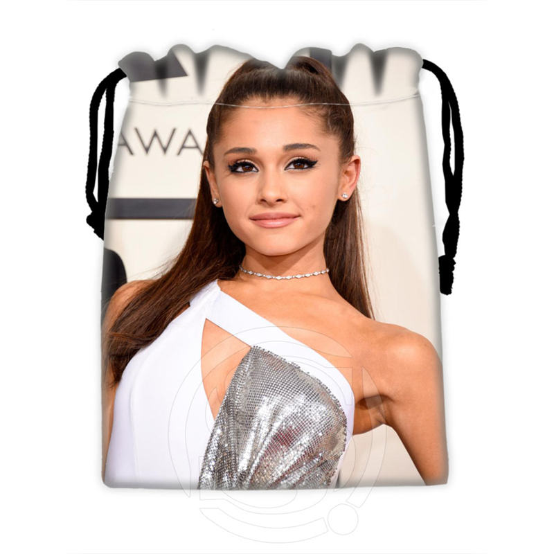 New Arrive Custom Ariana Grande #4 Drawstring Bags For Mobile Phone Tablet PC Packaging Gift Bags18X22cm SQ00715-@H0280