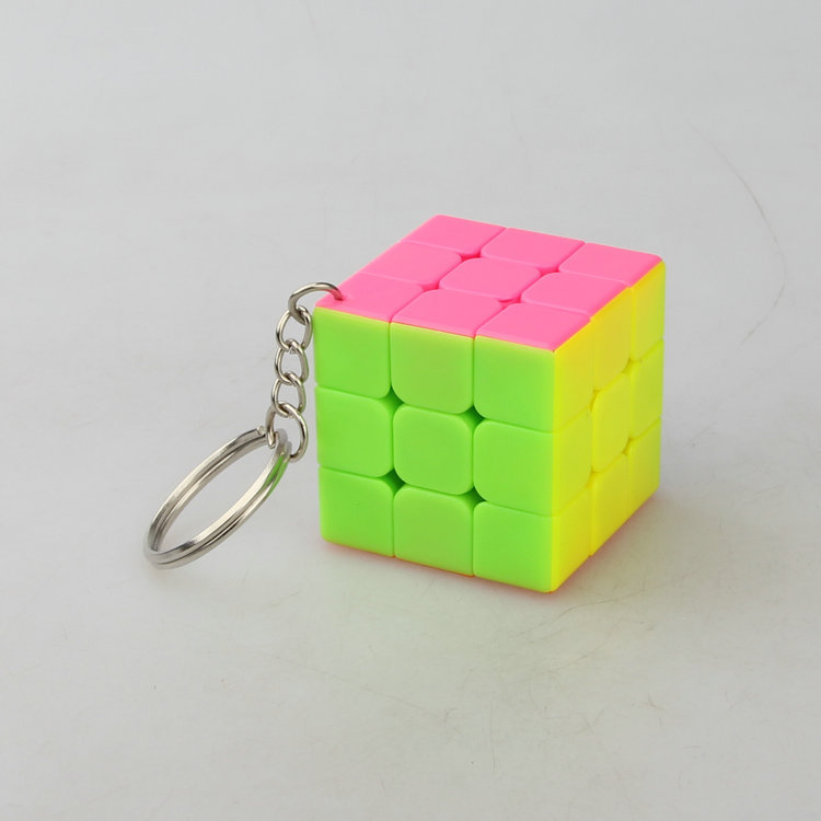 High Quality candy Cube Toy 3x3x3 Professional  Magic cube Educational Toy Kids Gifts Adults Gifts 3.5cm size Cube with Keychain