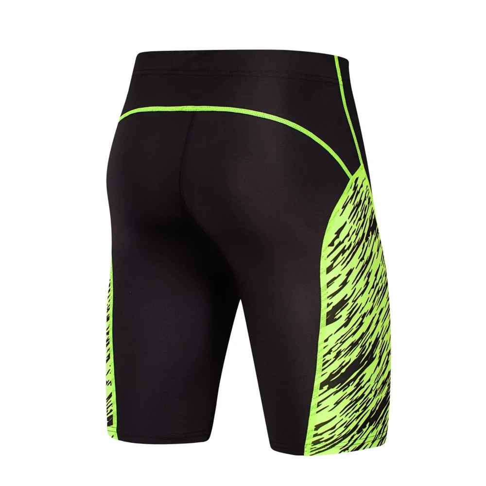2017 New Gym Clothing Compression Tights Men Running Shorts Sports Spandex Lycra Short Pant Tight Legging Basketball Leg Elastic