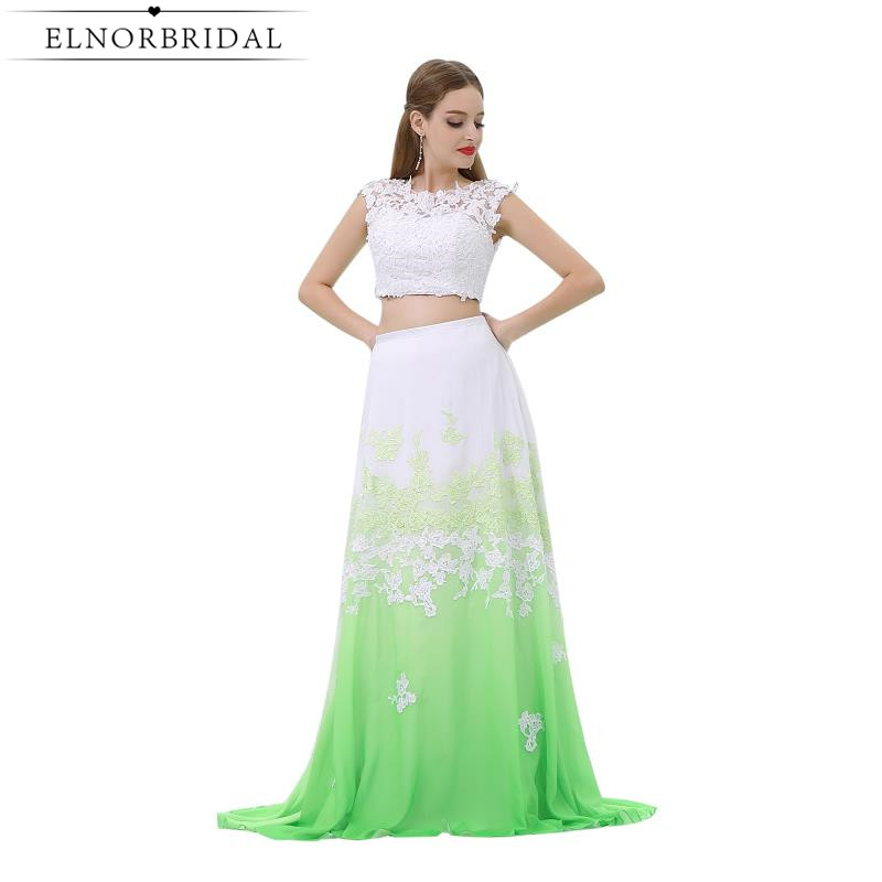 Sexy 2 Piece   Prom     Dresses   Cheap 2019 Vestido De Festa Lace Imported Party   Dress   Special Occasion Formal Evening Gowns