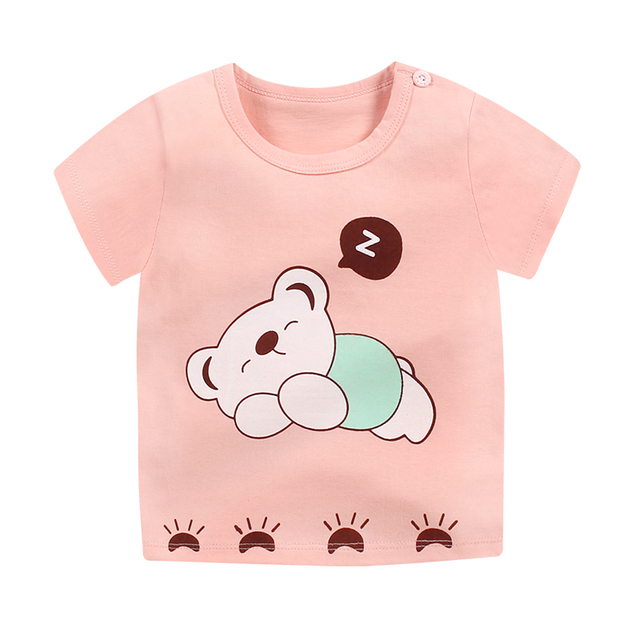 9cf796a4c89 Cartoon Print Summer Baby Cotton Spaceship Boys Girls Clothing Children Kids  Cartoon Print T shirts Child Tops T-Shirt Tee 6M-7T