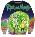 New fashion autumn  Rick and Morty  Crewneck  sweatshirt 3d print women/men pullover hoodie long shirt crewneck