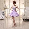 2016 Sexy Querida Curto Prom Dress Sexy Uma Linha Frisada Lantejoulas Acima Do Joelho Mini vestido do Regresso A Casa Vestidos de Festa Formal Vestidos de Cocktail