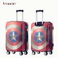 "Captain America design limited edition luggage travel bag,20""24""28""inch boarding Rolling suitcase,password box,Portable trolley"