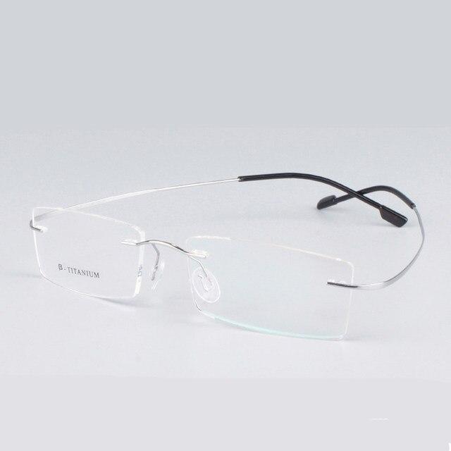 16f26988ab Rimless Titanium Glasses Frames Men Women Fashion Brand Designer Eyeglasses  Prescription Eyewear Top Quality Goggles Classic New