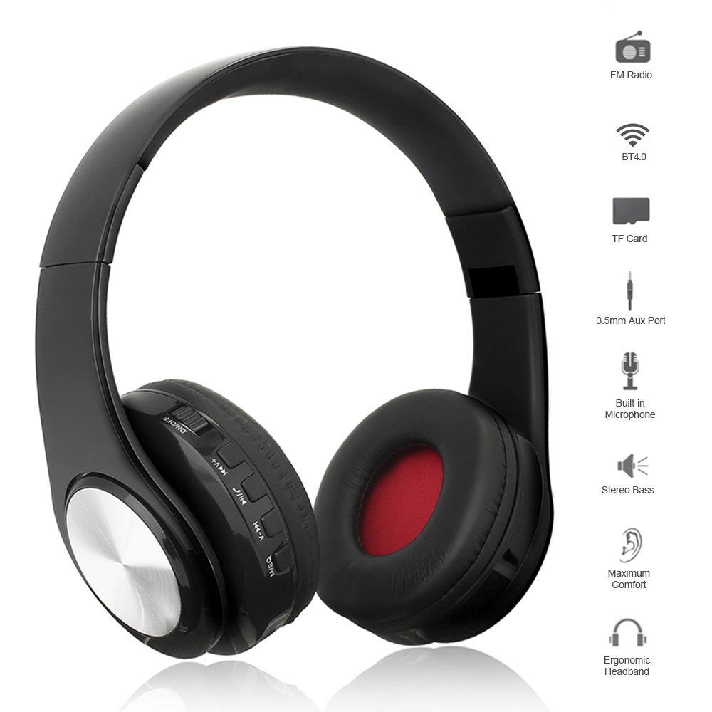 Earphones & Headphones The Best Wireless Bluetooth Gaming Headset Foldable Headset Portable Digital Mp3 Music Headphone With Led Flash Lights Support Tf Card