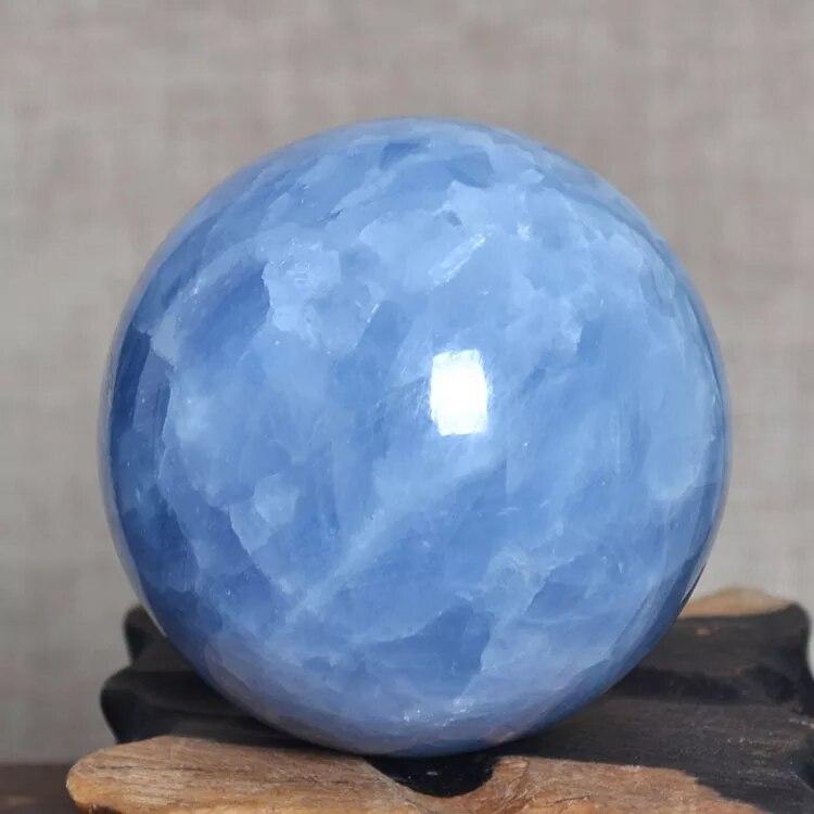 100mm Cristal Naturel Bleu Célestine Cristal SPHÈRE BOULE DE GUÉRISON + stand