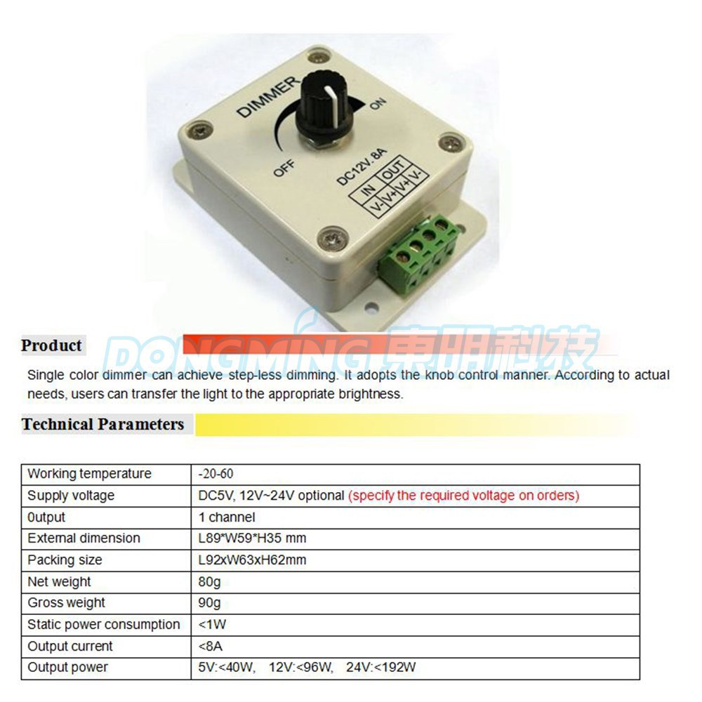 Us 494 5 Off Dc 5v 12v24v 8a Single Color Led Dimmer Light Switch Controller From Darkness To Brightness For Lamp Strip Free Shipping In New 12v Lighting Control Knob Getsubject Aeproduct