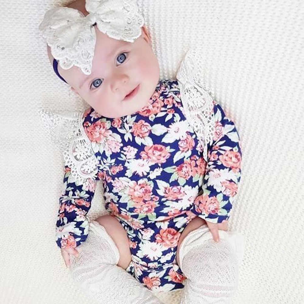 Muqgew для новорожденных младенцев Одежда для маленьких мальчиков и девочек Комбинезон для Девочек Цветочная повязка на голову с рюшами Детские комбинезоны одежда детская одежда для девочек