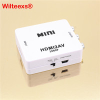 Mini Composite 1080P HDMI To RCA Audio Video AV CVBS Adapter Support HD For HD HDMI2AV