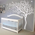 2017 HOT Huge White Tree Wall Decal Sticker Wall Decals Nursery Tree Wall Stickers For Kids Rooms 213X210CM Wall Tattoo Gift