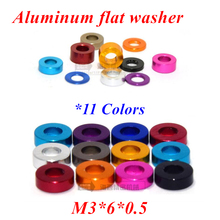 100pcs M3*6*0.5mm Aluminum flat washer m3x6x0.5 Aluminum countersunk gasket Washer meson for RC Parts anodized 11 colors 10pcs m6 12 2mm aluminum flat washer for rc model part anodized aluminum countersunk gasket washer meson mix 11 colors