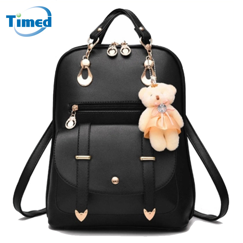 Hot Sale 2017 New Women Backpack Students School Bags Lady High Quality Pu Leather Backpack Candy Color Fashion Backpacks 1pc hight quality hot fashion unisex emoji backpacks 3d printing bags drawstring backpack nov 10