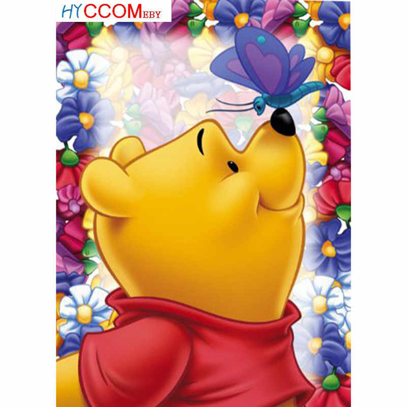 New Arrivals 5D Diy Diamond Painting Winnie The Pooh Diamond Embroidery Cross Stitch Crystal Mosaic Picture Home Decoration