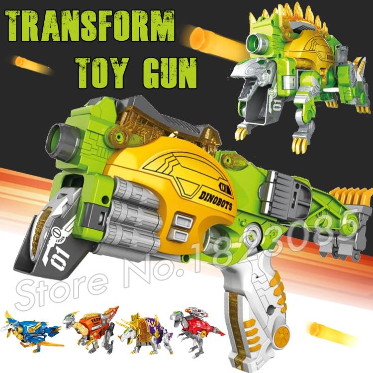 Eva Soft Bullet Toy Gun Plastic Army Toys Air Guns Same as N-Strike Distortion Dinosaur Transformation Stegosaurus Bursts
