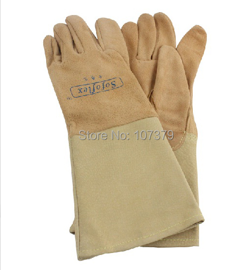 Leather Welder Work Glove Top Grain Reverse TIG MIG Safety Glove Pigskin Leather Welding Glove leather safety glove deluxe tig mig leather welding glove comfoflex leather driver work glove