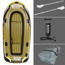 3 Persona 305*136*42 cm barco de pesca barco inflable, kayak, 127 cm remos Alumnium, bomba, parche de reparación, bolsa de transporte opcional