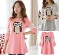 Maternity Wear Clothing Korean New Summer Loose Size Pregnant Women T-shirt Fashion Hollow Mosaic Pregnant Shirts
