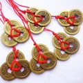 3 Pieces Bunch Chinese Feng Shui Coins For Wealth And Success Lucky Oriental Emperor Qing Money