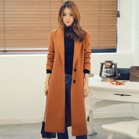 New Women's Ultra long paragraph cashmere overcoat women's loose single breasted woolen trench coat plus size spring coat S 4XL