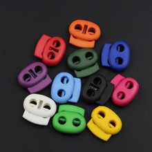 Toggle-Stopper Shoelace Cord-Lock Plastic Mini Bean for Apparel -Mb0064 50pcs-Pack Size:16mm--17mm--6mm