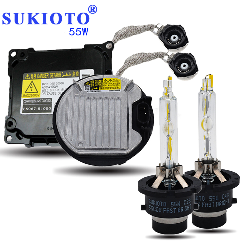 SUKIOTO 55W Xenon D4S D2S Headlight xenon ballast Kit hid d2s xenon projector lens bulb 5500K fast bright hid light D4S ballast small motherboard computer cases server 1 rtl8111dl onboard nic gigabit lan wake on lan or wifi network
