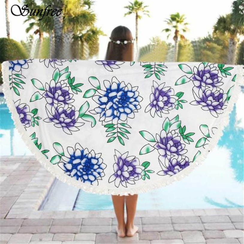 Round Round Beach Pool Home Shower Towel Blanket Table Cloth Mat Free for shipping Brand New High Quality Apr 19