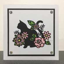 Mmao Crafts Metal Steel Cutting Dies 2019 New Cat decoration Stencil For DIY Scrapbooking Paper/photo Cards Embossing Dies(China)