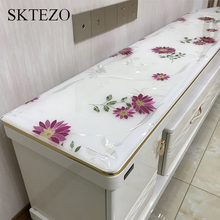 1mm Rectangular Tablecloth Home Waterproof PVC Bedside Multifunctional Cabinet Wine Coffee Table Bay Window