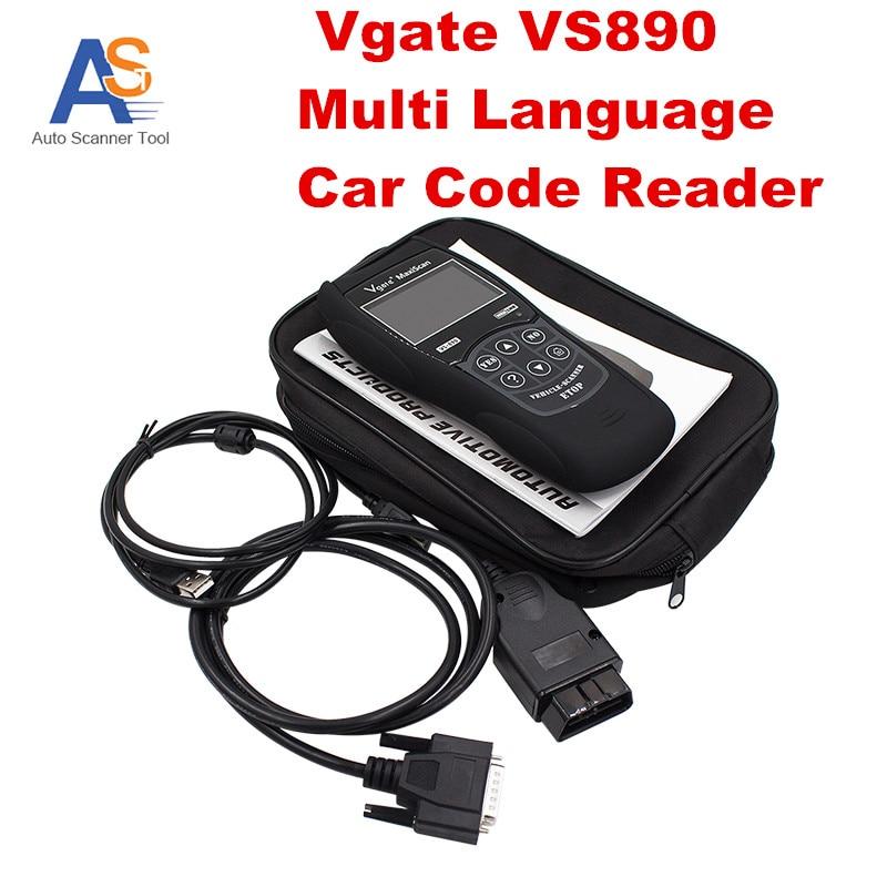 2016 New OBD2 Scanner Vgate VS890 Multi language Car Code Reader Auto Diagnostic Scanner V gate