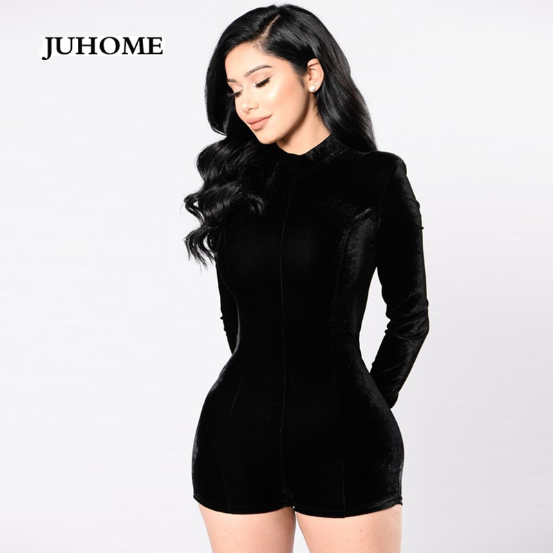 Autumn Female Jumpsuits Women Rompers Black Body Suit Clothing