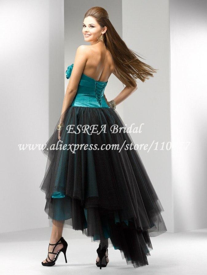 Aliexpress.com : Buy Designer Corset Black Organza Blue High Low ...