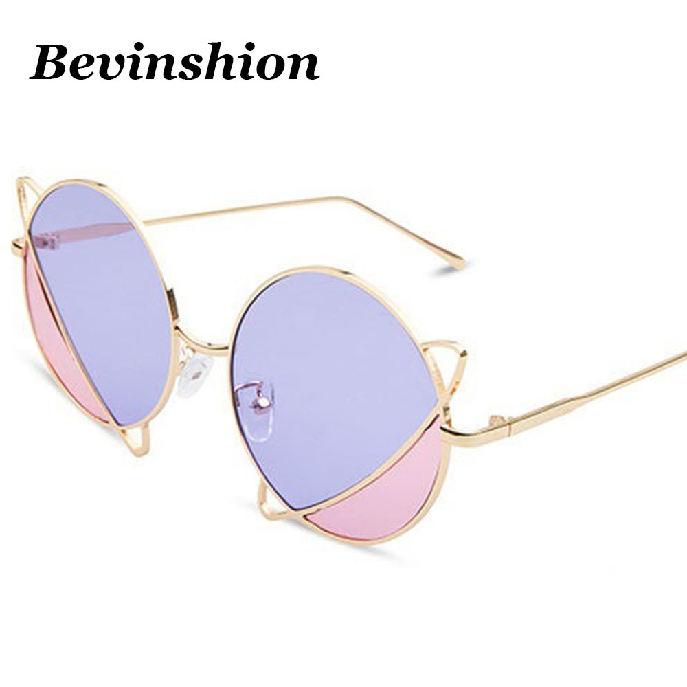 29cf06a7a2e6 Detail Feedback Questions about Brand Designer Planet Fashion Sun Glasses  Round Sunglasses Women Double Color Lens Metal Frame Couple Pink Blue  Harajuku ...