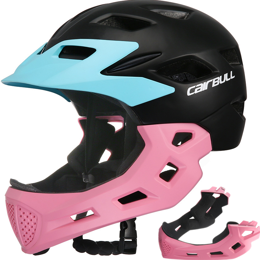Kids Full Face Bicycle Helmet Child Road MTB Balance Bike Skateboard Rollerskating Safety Cycling Helmet Detachable