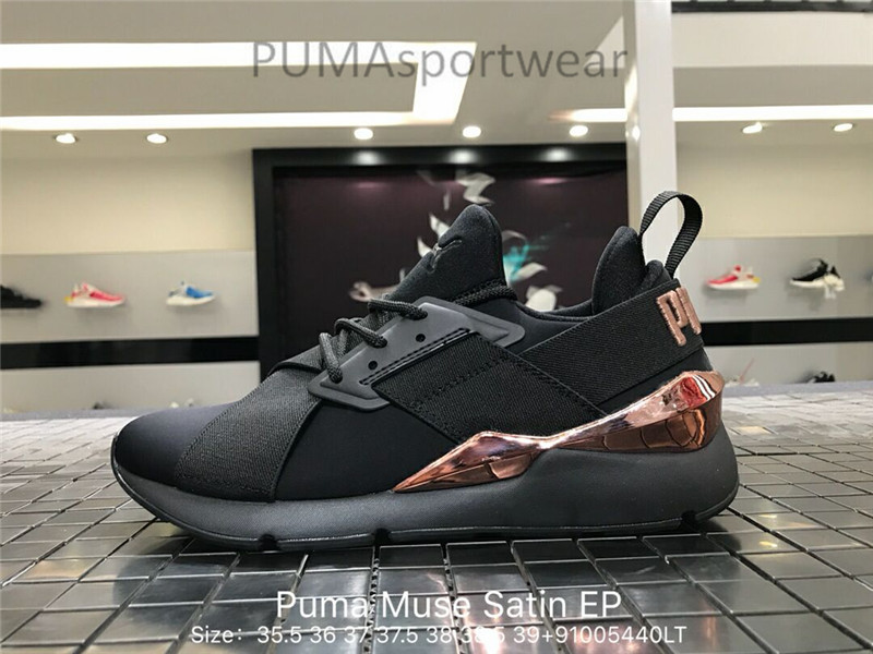 Original Puma Platform Womens Boots Lace Up Trainers Leather Women s  Sneakers Bow Badminton Shoes Size35.5-39 e01aaa305